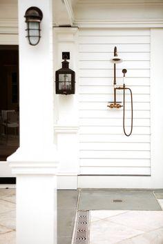 Fabulous outdoor shower, Kaali-Nagy - I like the base it makes sense.