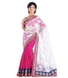We present a range of Net designer sarees are decorated with beautiful lace work which is presented in the most eloquent manner.   This saree comes along with matching blouse piece.  Moiaa is women's favourite one stop shop for Indian clothing. We specialize in bridal sarees, trendy SalwarKameez and other Indian bridal wear like LehengaCholis. Our collection boasts of creations of best Indian designers and also regular Indian women's clothing.