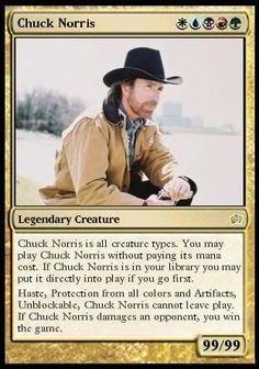 Magic : The Chuck Norris card