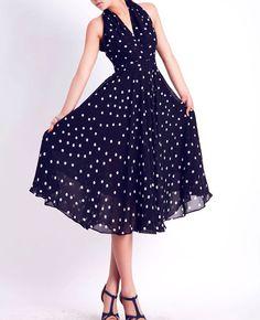 Black chiffon prom dress (WQ02)  summer dress  #dress #summer