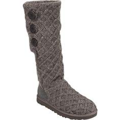 UGG Australia Womens Lattice Cardy Boot in Charcoal