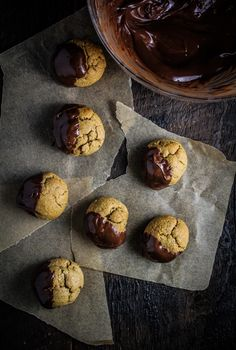 Monthly Fitness Goals: March // Chocolate-Dipped Almond Butter Cookie Bites