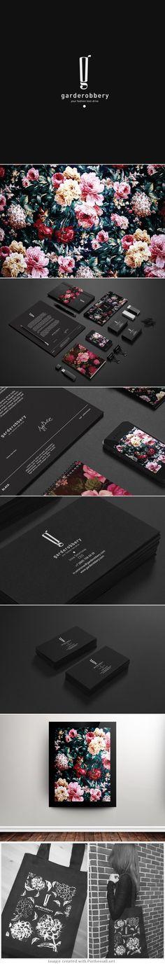 The very beautiful Garderobbery #identity #packaging #branding PD - created via https://www.behance.net/gallery/Garderobbery/7383521
