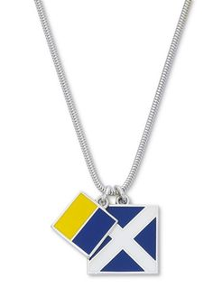 Style Newport Jewelry | Nautical Flag Necklaces