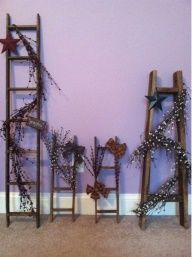 primitive diy crafts, primitive crafts decor, diy primitive decorations, primit ladder, primit decor