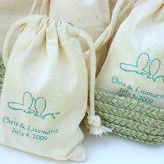 favor bags, muslin favor, wedding favors, muslin bag, larg muslin, muslin idea, small bags