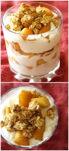 breakfast dessert recipes, apple pie parfait, appl pie, treat, apple pies