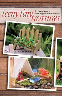 fairi garden, miniature gardens, tini treasur, hobbi lobbi