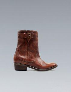COWBOY ANKLE BOOT - Trf - Shoes - Woman - ZARA
