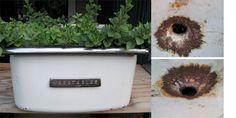 Vintage Refrigerator Drawer Planter