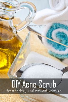 Make your own DIY Acne Scrub from natural ingredients. Easy Acne Scrub recipe and effective too.