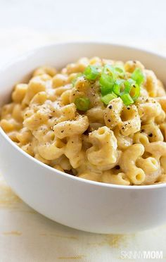 Try feeding this healthy version of mac and cheese to your kids! They will love it!