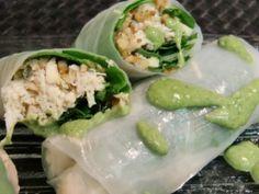 Healthy Recipe – Fresh Chicken Spring Rolls w/Shallot Spinach Sauce