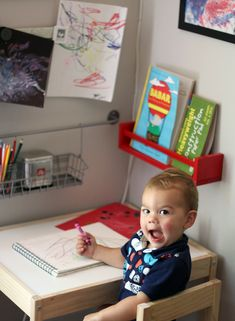 4 creative spaces for kids you won't want to miss art station, art spaces, kids art corner, kid spaces, creative desk organization, kid art, kids creative corner, creativ space, creative baby room ideas