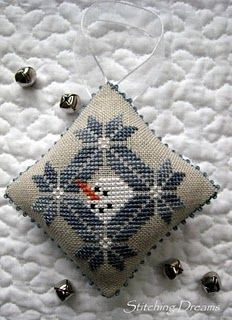 ♥ snowmen cross stitch