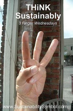 """3 Finger Wednesday is the day to """"Think Sustainably"""" about Peace, Harmony and Balance as you Share your life with others on this planet. Every Wednesday we do 3 things:     1. Change Your Face,     2. Change Your Diet, and     3. Unplug Yourself    -  Together, let's get the world accelerating the transformation every Wednesday \!/_(^-^)_\!/ http://www.sustainabilitysymbol.com/what-are-3-finger-wednesdays/"""