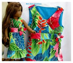 Matching American Girl Doll and Girl's Size by BonJeanCreations, $64.49