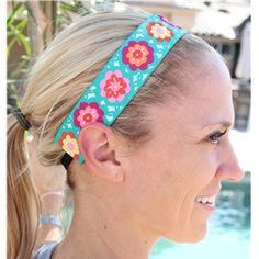 Thick Teal Flower Power | BIC Bands