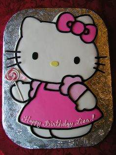 hello kitty cake in fondant by Let There Be Cake, via Flickr