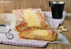 Tarta con crema de almendras y manzana