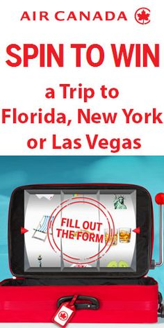 Win a Trip to Florida, New York, or Las Vegas