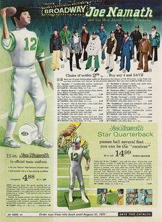 "1970 ""Broadway"" Joe Namath doll and his Mod-About Town Wardrobe"