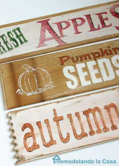 From drawer sides to Fall signs - free printables
