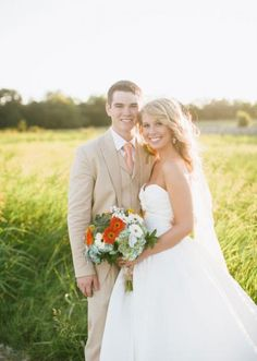 We love this shot of the sweet couple captured by Jess Barfield Photography #wedding #cute #texas #couple #bride #groom