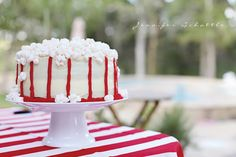 LOVE this popcorn themed cake! Night at the Movies Birthday Party - Kara's Party Ideas - The Place for All Things Party