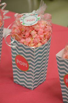 Ready to Pop Baby Shower - Popcorn box favor treat