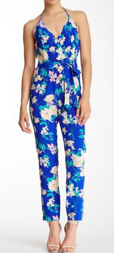 Silk floral jumpsuit
