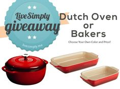 Le Creuset and Dutch Oven Giveaway