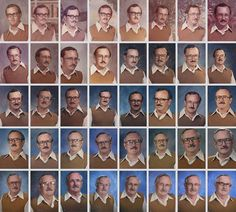 This guy is awesome! School Teacher Wears The Same Outfit For Yearbook Pictures for 40 Years | Bored Panda