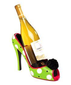 Polka Dot High Heel Wine Bottle Holder