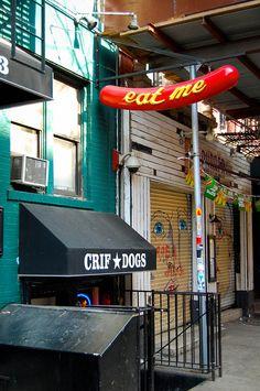 World famous Crif Dogs | Speakeasy PDT, New York