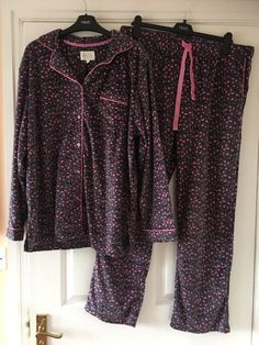 New Next   Cosy Brushed Print Pyjamas Size Large  16 - 18  bnwt #fashion #clothing #shoes #accessories #womensclothing #intimatessleep (ebay link)