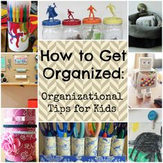UPDATED! How to Get Organized: 26 Organizational Tips for Kids. Your little ones will love these kids' craft ideas so much that they won't realize they're actually cleaning. | AllFreeKidsCrafts.com
