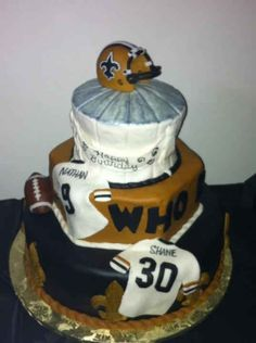 Thanks to Shane Nathan for sending us a picture of this birthday cake! #Saints NOLA #BirthdayCake