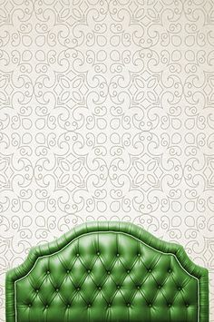 Curl Queen Nailhead Upholstered Headboard Green Products Pinterest