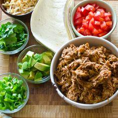 Crockpot shredded chicken taco meat