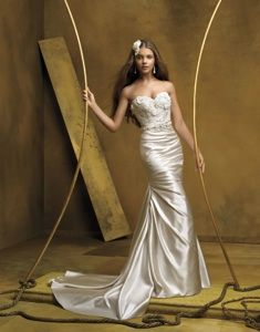Lace & Satin Mermaid in champagne  by Co Co Anais #AN130