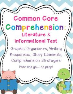 Reading comprehension printables to use with any fiction or nonfiction book!