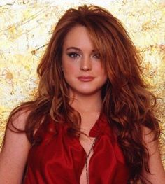 Linsay Lohan - the red is better