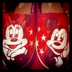 Mickey & Minnie Mouse Custom Toms