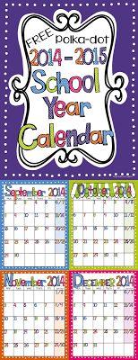 Light Bulbs and Laughter FREE Calendar on Teachers Pay Teachers