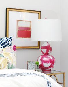 Pink lamp.