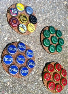 How to make a Bottle Cap mancave Coaster