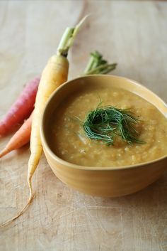 Fall Vegetable and Red Lentil Soup - Vegan