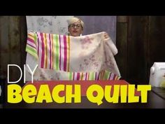 "Make this beach ""quilt"" from 2 bath towels. Jennifer from Craft Forest borrows our studio to show you how! #msqc #summer #"