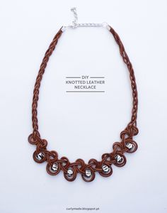 #DIY Knotted Leather #Necklace #Tutorial #jewelry #diy_jewelry